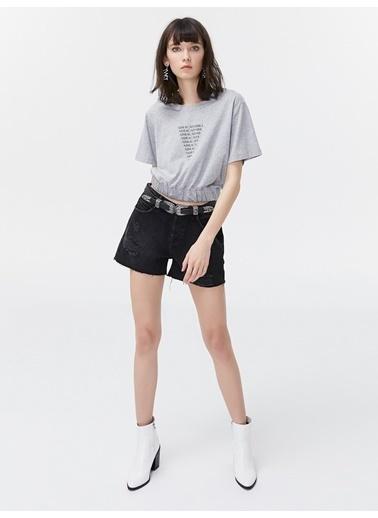 Twist Tişört Gri